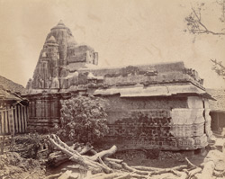General view of small temple north-east of the Tarakeshvara Temple, Hangal